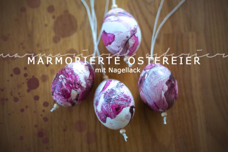 marmorierte ostereier mit nagellack