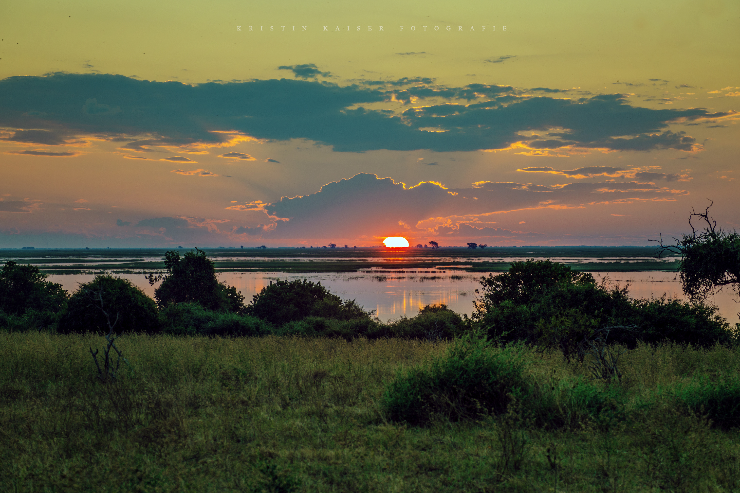 Sunset at Chobe River Front